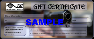 Tactical Safety Institute Gift Certificate